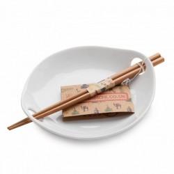 Miska na ryžu s paličkami