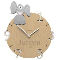 Detské nástenné hodiny ELEPHANT
