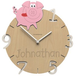 Detské nástenné hodiny PIGGY