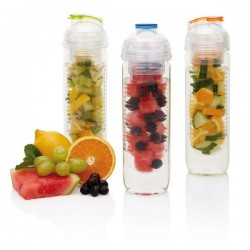 LOOOQS zdravá fľaša na vodu s košíkom na ovocie 500 ml