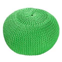 Pletený puf INVICTA zelený 50cm