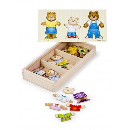 "Puzzle ""Medvedíkov šatník"" Melissa & Doug"