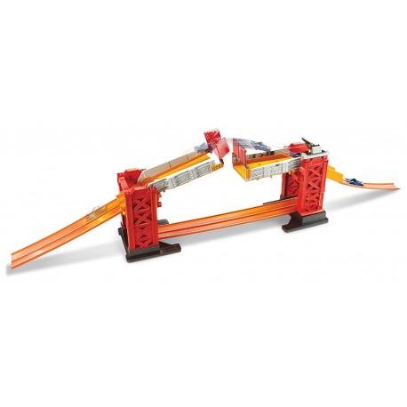 Hot Wheels Mattel track builder padací most
