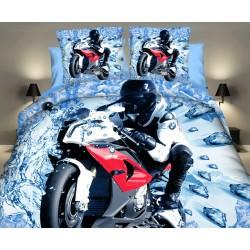 3D Obliečky Motorka na ľade 140x200cm