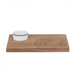S&P Fromage Wooden Cheese Board with Dish 30 x 20cm